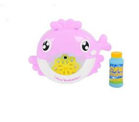 Игрушка для ванной Fun Bubble Кит выдувает мыльные пузыри Розовый