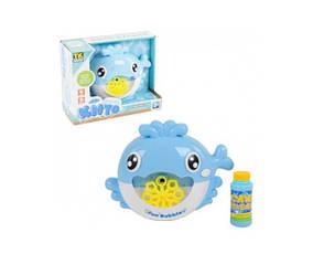 Игрушка для ванной Fun Bubble Кит выдувает мыльные пузыри Голубой