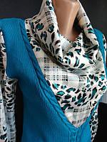 Кофточки с вязаной жилеткой.