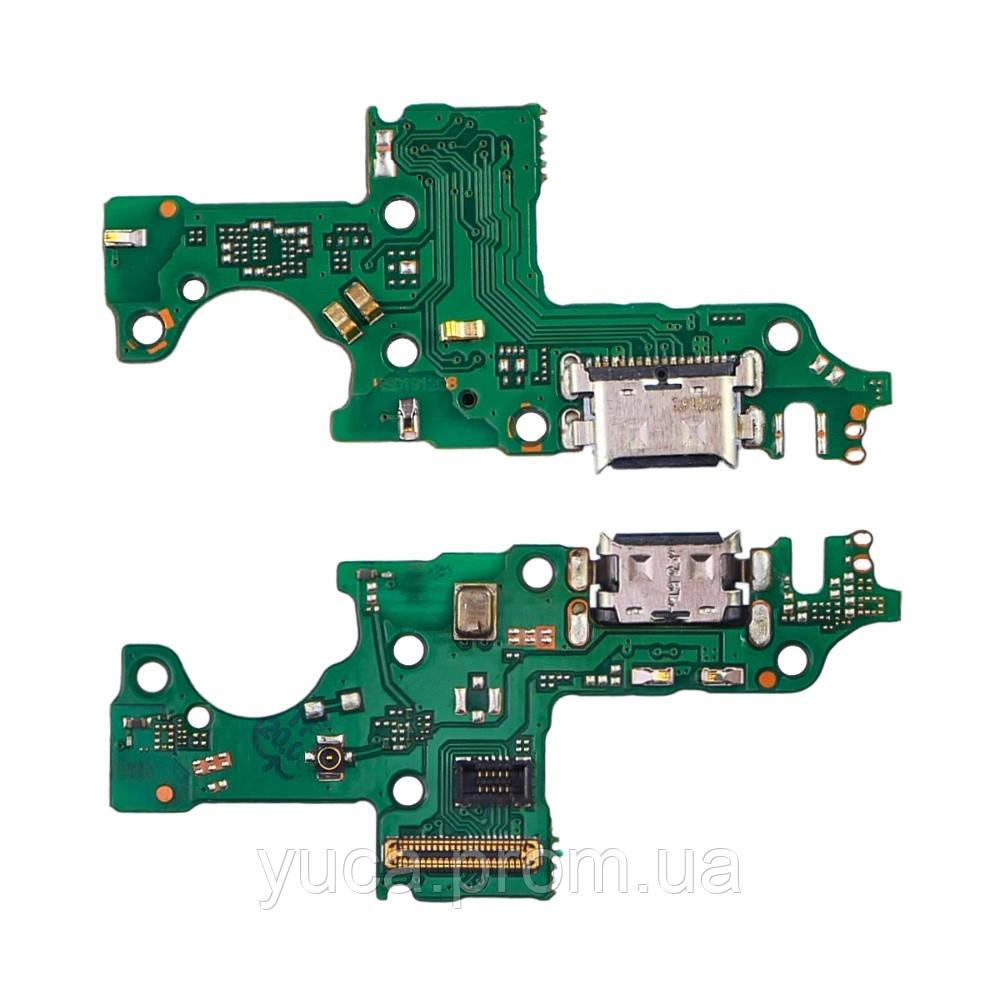 Роз'єм зарядки для Huawei Honor 20 Lite на платі з мікрофоном і компонентами