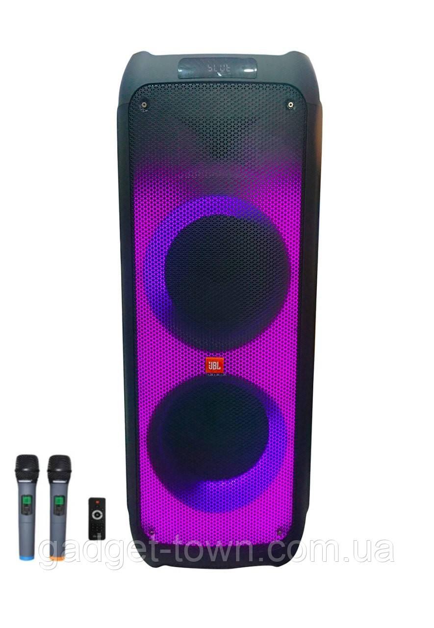 Колонка аккумуляторная ZXX partybox c радиомикрофонами (250W/USB/BT/FM)