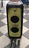 Колонка акумуляторна ZXX partybox c радіомікрофонами (250W/USB/BT/FM), фото 6
