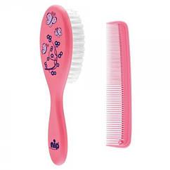 Щетка и расческа для волос Nip, розовый (37075)