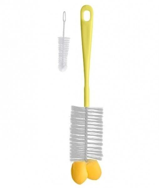 Ершик для бутылочек и сосок BabyOno, желтый (720)