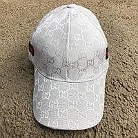 Baseball Hat Gucci Web GG Supreme White