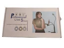 Набор блогера 3 в 1. Кольцевая лампа с держателем для микрофона и телефона. Professional Live Stream, фото 2