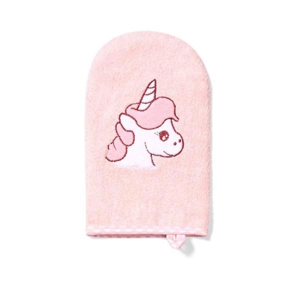 Рукавица для купания BabyOno Единорог, светло-розовый с белым (347/01)