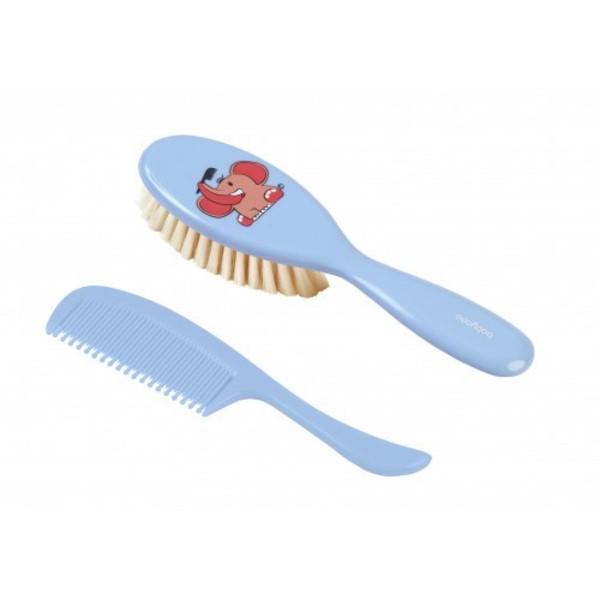 Щетка и расческа для волос BabyOno Слоник, голубой (568/01)