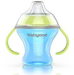 Чашка-непроливайка BabyOno Natural Nursing з м'яким носиком, 180 мл, блакитний (1456)