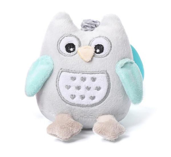 Игрушка-обнимашка BabyOno Сова, с вибрацией, голубой (442)