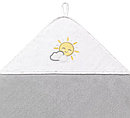 Полотенце с капюшоном BabyOno Солнышко, 76х76 см, серый с белым (141/08), фото 2