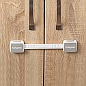 Универсальная блокировка для мебели BabyOno, 2 шт., серый (945), фото 5