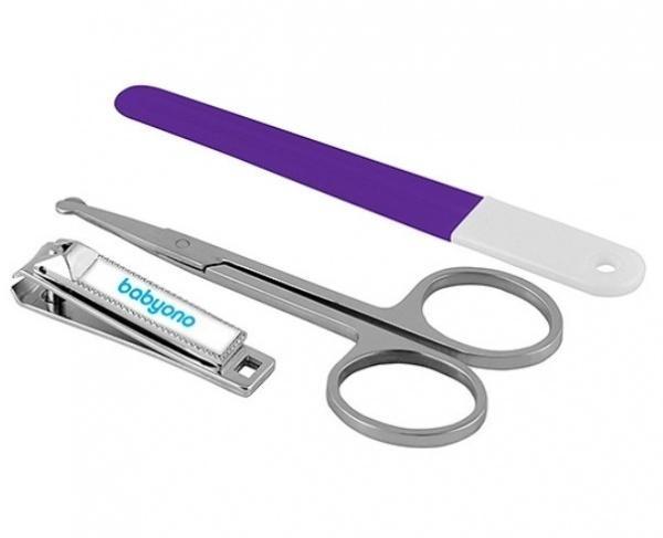 Маникюрный набор BabyOno, фиолетовый (68)