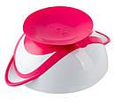 Тарелка на присоске BabyOno, с ложечкой, розовый (1063), фото 3