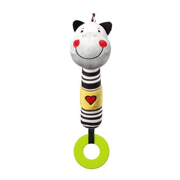 Игрушка с пищалкой BabyOno Зебра Зак, 30 см (634)