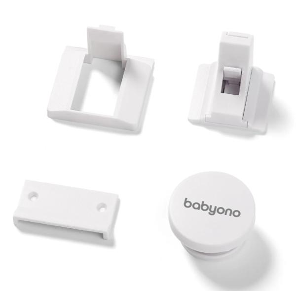Магнитный блокиратор для мебели BabyOno, 4 шт., белый (946)