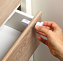 Магнитный блокиратор для мебели BabyOno, 4 шт., белый (946), фото 3