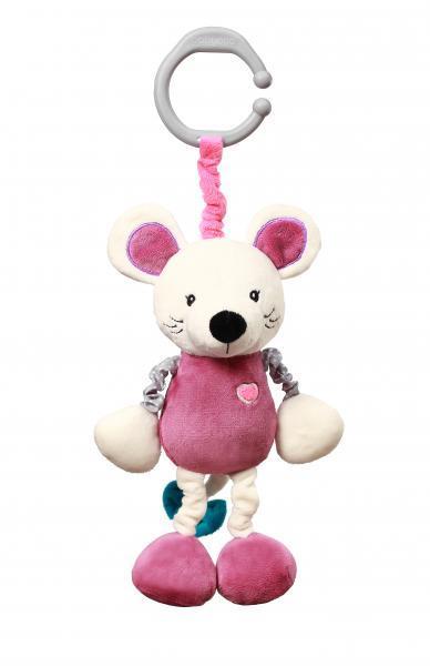 Игрушка-подвеска BabyOno Мышонок Сил, вибрирующая, 28 см (629)