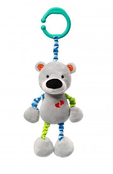 Игрушка-подвеска BabyOno Мишка Бил, вибрирующая, 28 см (618)