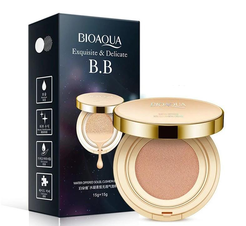 Кушон BIOAQUA Exquisite & Delicate BB Cushion Cream 15 г+15 г Тон №1