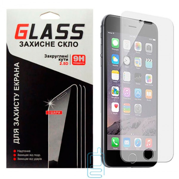 Защитное стекло 2.5D универсальное 5.0″ 0.3mm Glass