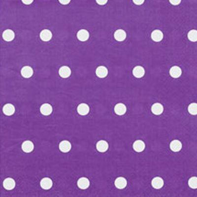 """Серветки стиль """"Горох"""", фіолетові, 12 шт, 33 см, Салфетки """"Горох"""""""