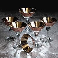 Набір келихів Кракелюр рубін для шампанського 170 мл, 6 шт.