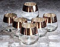 Набор стаканов Кракелюр рубин для виски 300 мл, 6 шт.