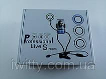 Держатель с LED подсветкой Professional Live Stream (Белый), фото 2