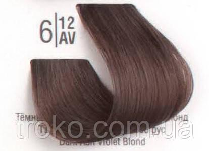 Краска для волос Spa master professional 6/12AV Темный холодный перламутровый блонд 100 мл