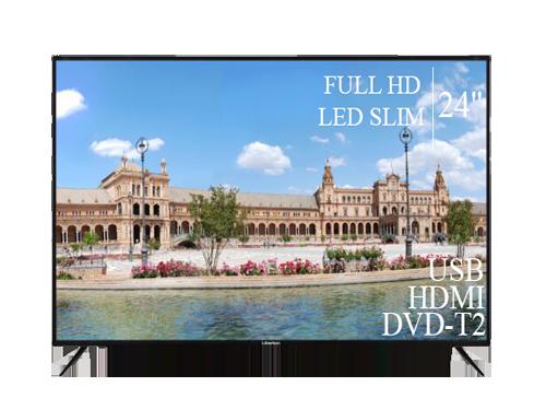 "Современный Телевизор Liberton 24"" FullHD+DVB-T2+USB"