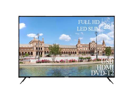 "Современный Телевизор Liberton 28"" FullHD+DVB-T2+USB"