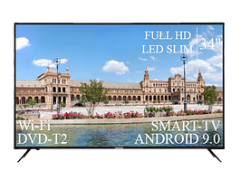 "Современный Телевизор Liberton 34"" Smart-TV+Full HD+DVB-T2+USB Android 9.0"