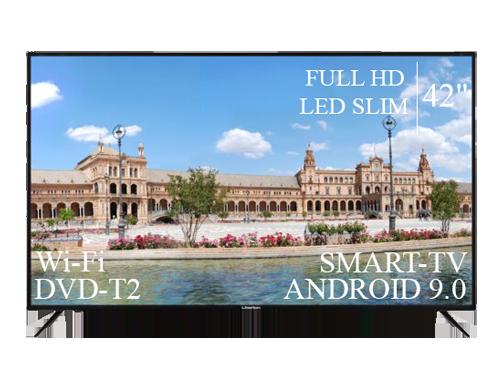 "Современный Телевизор Liberton  42"" Smart-TV+Full HD+DVB-T2+USB Android 9.0"