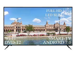 "Современный Телевизор Liberton 45"" Smart-TV+Full HD+DVB-T2+USB Android 7.0"