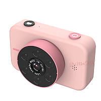 4K Детский цифровой фотоаппарат Retro Camera X17 с Селфи и подсветкой Розовый