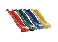 Пластиковая горка для детей 3 метра. Спуск KBT. Разные цвета. Производство Бельгия.