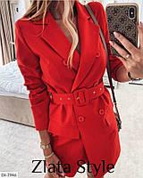 Женское платье стильное,повседневное. Цвета: пудра, белый, черный, красный. Ткань: креп костюмка.