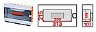 Бокс пластиковый модульный для  внутренней установки на 9 модулей EH-BM- 012, фото 2