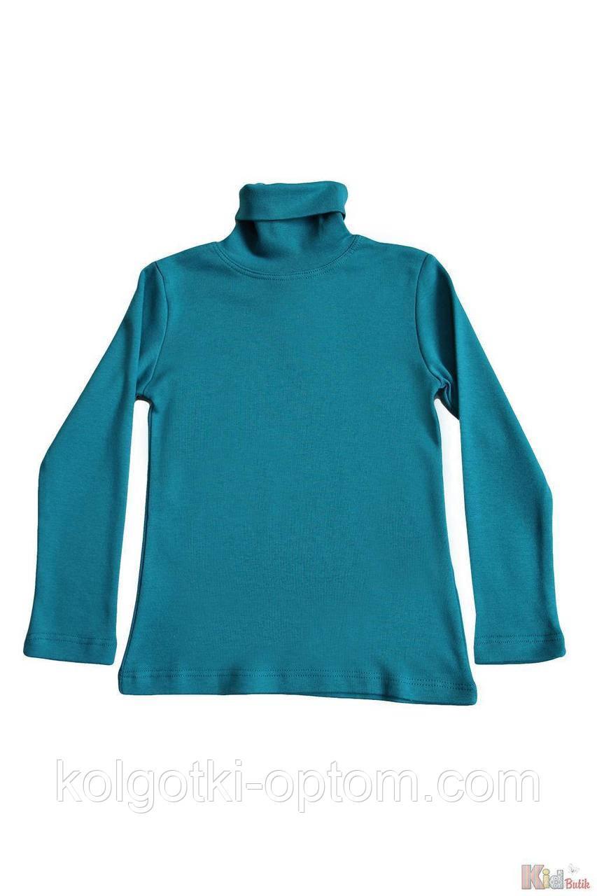 ОПТОМ Гольф цвета изумруд базовый для девочки-подростка (140 см.)  Lovetti 2125000686646