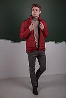 Мужская Весенняя красная куртка пуховик (Осень)