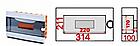 Бокс пластиковый модульный для  внутренней установки на 12 модулей EH-BM- 013, фото 2