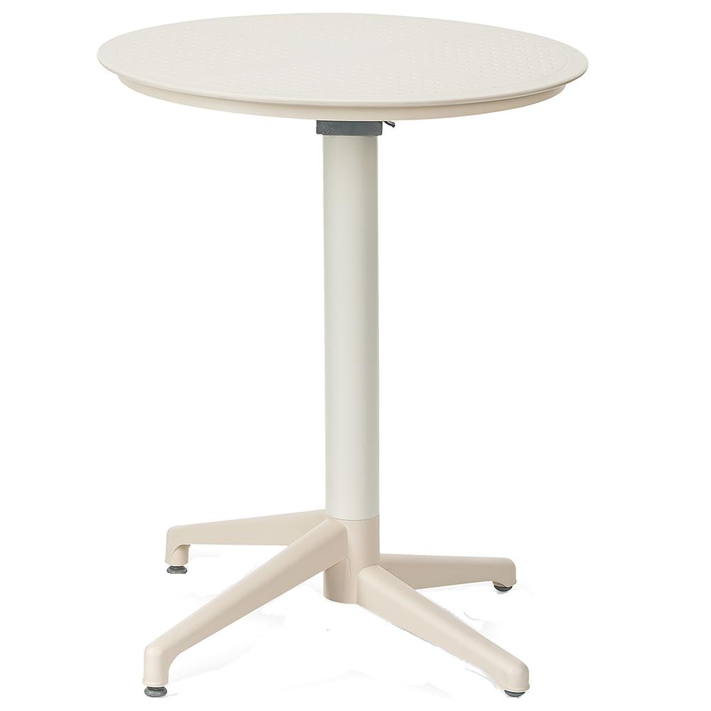 Стол с откидной столешницей Tilia Moon d60 см кремовый