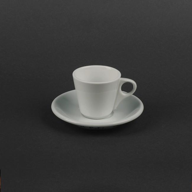 Чашка фарфоровая белая 90мл с блюдцем для эспрессо (арт. HR1306)