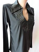 Женские рубашки со стразами на воротнике. Арт. 161896, фото 1