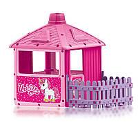 Детский игровой домик UNICORN (2511) с ограждением розовый