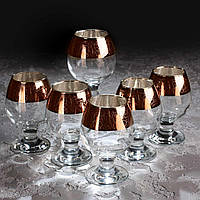 Набор бокалов Кракелюр рубин для коньяка 250 мл, 6 шт.