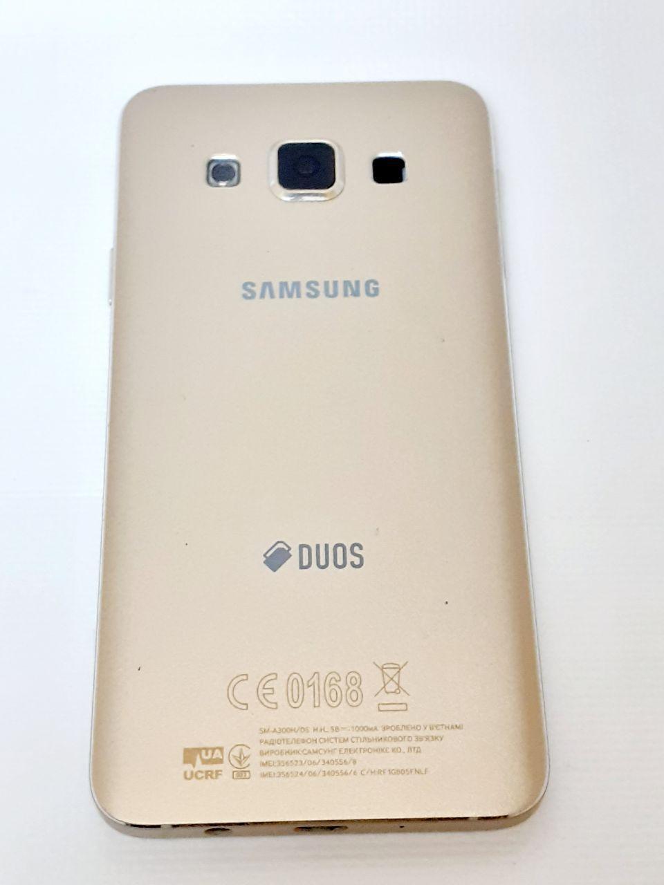 Корпус золотий Samsung A300F Galaxy A3, A300FU Galaxy A3, A300H Galaxy A3Original б.у.