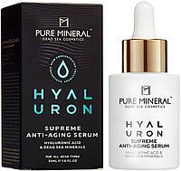 Гіалуронова сироватка для обличчя з антивіковим ефектом Pure Mineral