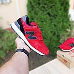 Чоловічі кросівки New Balance 574 (червоно-чорні) 10286, фото 4